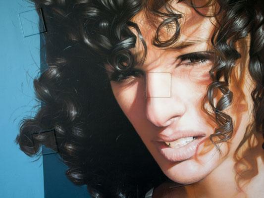ANISSA @ PEIXOTTO (detail) - Jean Rooble - Spraypaint on wall - 6 x 3 x 3 m - Station Peixotto, Talence (2020)