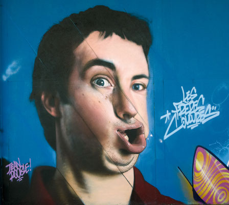 Shake Your Face  - JEAN ROOBLE - Spraypaint on wall (4 x 4 m) - Shake Well Festival - Bordeaux (2016)