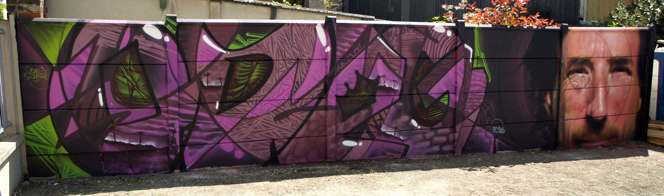 ODEG & JEAN ROOBLE - Spraypaint on wall (2 x 10 m) - Exhibition Le Grand 8 - Malakoff (2016)