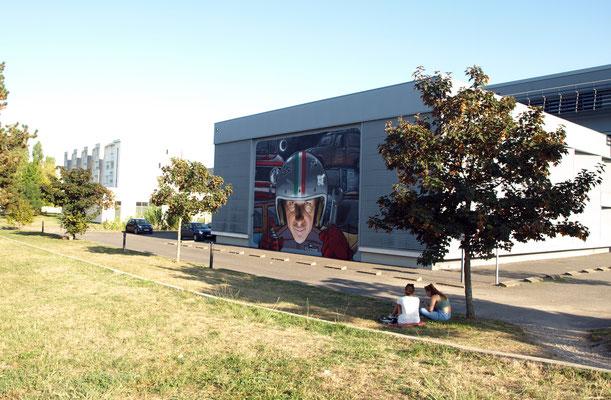 LA VERA VITA D'ULDERICO - Filippo Mozone X Jean Rooble - Spraypaint and acrylic on wall - 7,10 x 9,70 m - Festival Shakewell #3 - Pessac, 2018