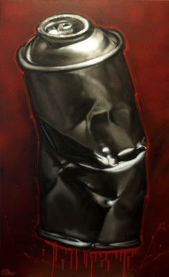 BLING BLING - Jean Rooble - Spraypaint on canvas - 100 x 40 cm (2011)
