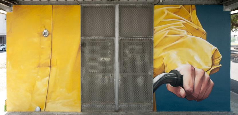 PEIXOTTO - Jean Rooble - Spraypaint on wall - 6 x 3 x 3 m - Station Peixotto, Talence (2020)