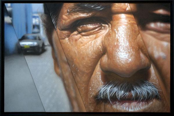 BIGOTE - Jean Rooble - Spraypaint on wood - 80 x 120 cm (2017)