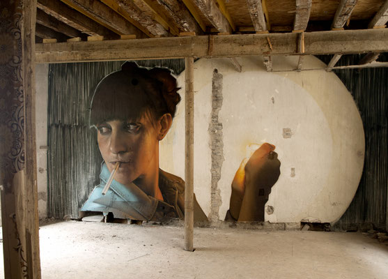 HISTOIRE DE FAMILLE - Jean Rooble - Spraypaint on wall - 3 x 6 m - for Urb'Expo - Angers (2020)