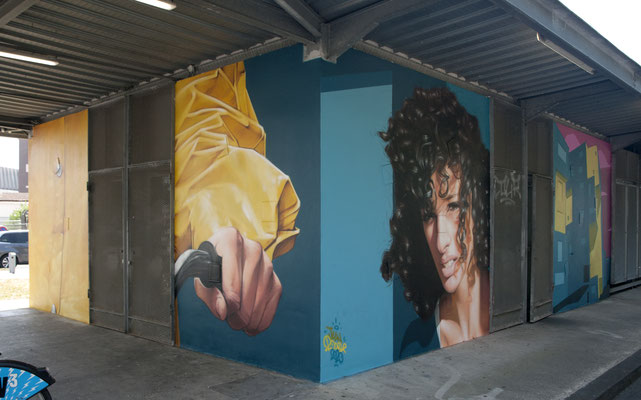 PEIXOTTO - Jean Rooble - Spraypaint on wall - 6 x 3 x 3 m - Station Peixotto, Talence (2020)