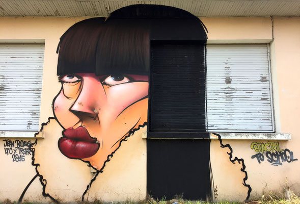 Biactol To School - JEAN ROOBLE - Spraypaint on wall (3 x 4m) - Projet BACK TO SCHOOL - Talence (2015)