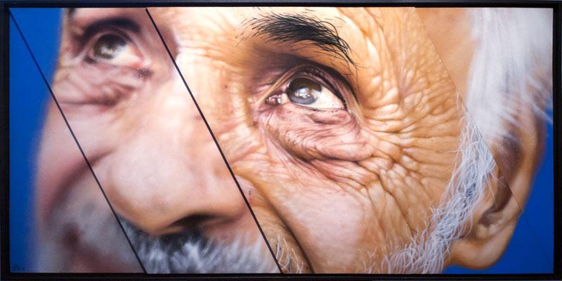 JEAN-MICHEL - Jean Rooble - Spraypaint on wood - 80 x 160 cm (2017)