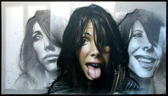 PRUDENCE / INSOLENCE - Jean Rooble - Spraypaint on canvas - 120 x 180 cm (2014) (--> Art Shop)