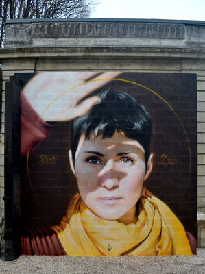 FIAT LUX  - JEAN ROOBLE - Spraypaint on wall - 4,60 x 4,60 m - Institut Culturel Bernard Magrez - Bordeaux, 2019