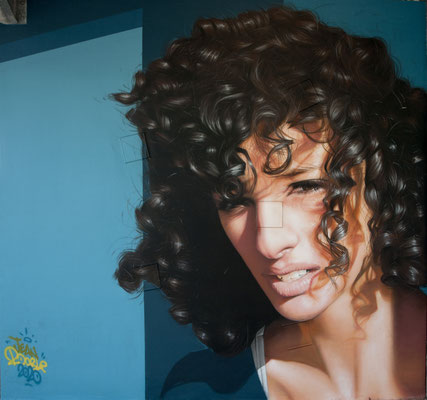 ANISSA @ PEIXOTTO - Jean Rooble - Spraypaint on wall - 6 x 3 x 3 m - Station Peixotto, Talence (2020)