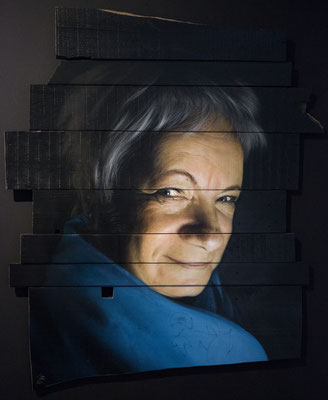 MOTHERBOARD - Jean Rooble - Spraypaint on wood - 170 x 140 cm (2019)