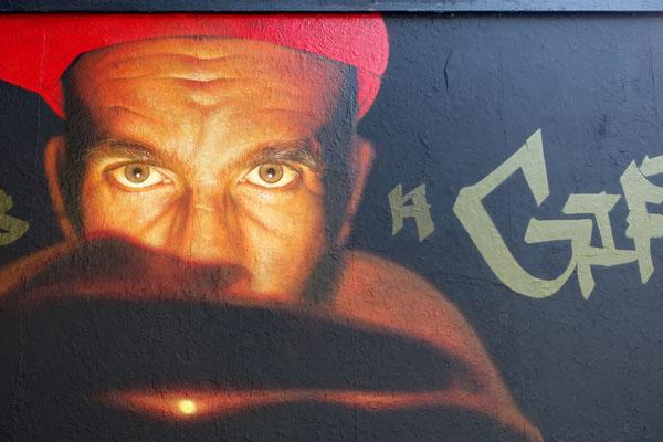 ANGER IS A GIFT (detail) - Spraypaint on wall - 2,8 x 7,8 m - Le M.U.R. Oberkampf - Paris (2021)