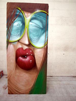 Prrrttt - JEAN ROOBLE - Freestyle on wood panel - 3 x 1,20m - for Hang'Art 303 - Bordeaux (2017)