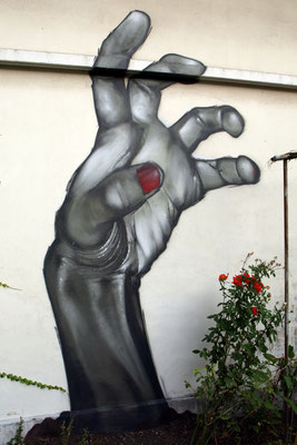 Vivre de l'Art avec 1 peu - JEAN ROOBLE - Spraypaint on wall (3.5 x 2 m) - Bordeaux, 2009
