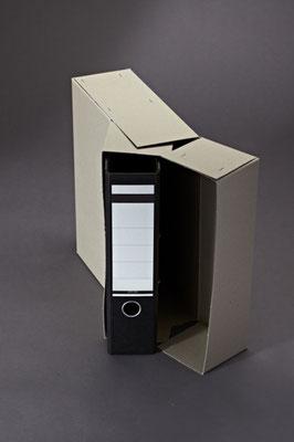 Archivbox für Ordner aus in einer stabilen Ausführung aus Vollpappe.