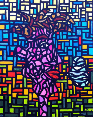 Speak your Mind Boy - 40x50 - acryl op doek