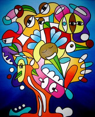 Tree of Forgiveness - 100x120 - acryl op doek VERKOCHT