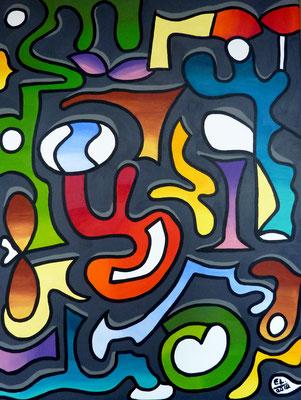 Upside Down - 60X80 - acryl op doek