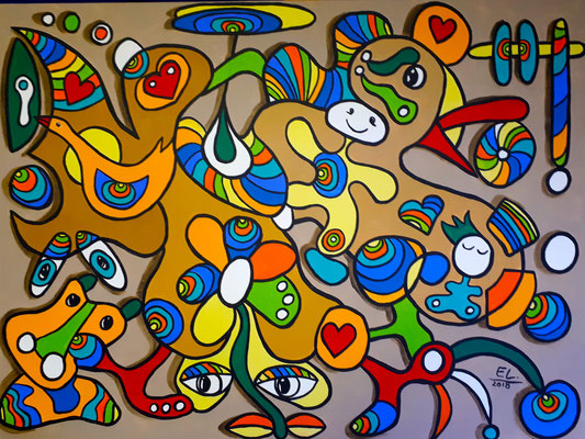 All in the Process - 60x80 - acryl op doek