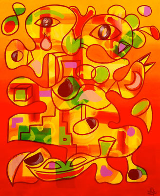 Summertime - 120x100 -  acryl op doek