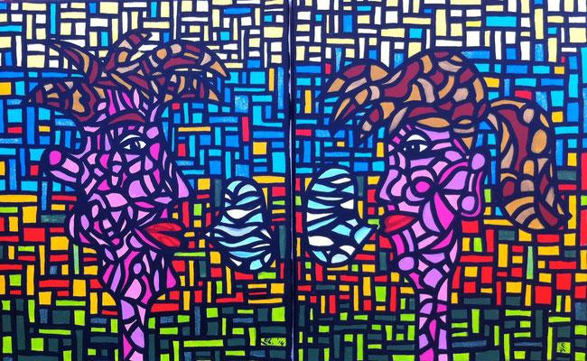 Speak your Mind Boy/Girl - 40x50 - acryl op doek