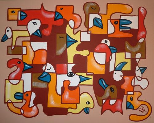 Pieces of the Puzzle - 80x100 - acryl op doek