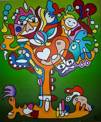 Tree of New Life  - 100x120 - acryl op doek