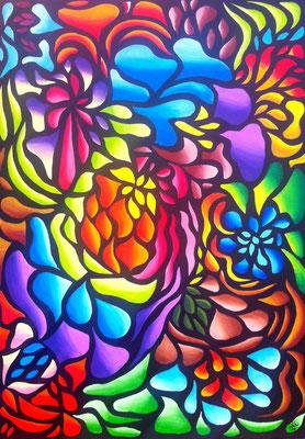 Hidden Truth - 50x70 - acryl op doek - VERKOCHT