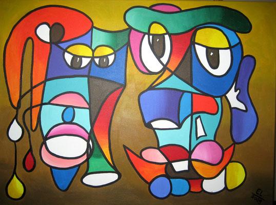 Couple - 60x80 - acryl op doek