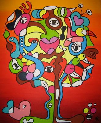 Tree of Compassion - 100x120 - acryl op doek VERKOCHT