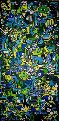 Icecream Daydream Part 2 - 50x100 - acryl op doek VERKOCHT