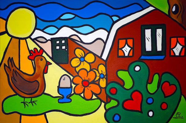 Schilderij en logo in opdracht van Eureka Homes te Egmond Binnen
