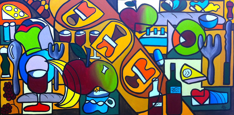Road to Abundance - 60x120 - acryl op doek