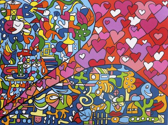 Road to Love - 60x80 - acryl op doek