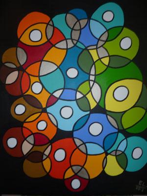 Circles of Life - 80x100 acryl op doek
