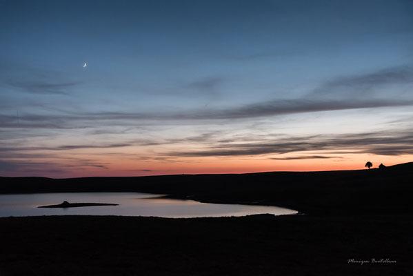 coucher de soleil sur le lac des Moines