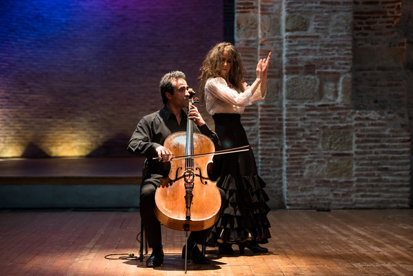 Bach flamenco avec Véronica Vallecillo et Raphaël Perraud à St Pierre des Cuisines