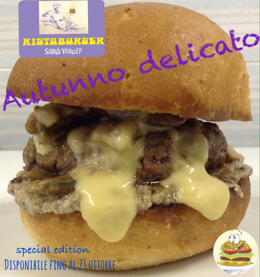 hamburger autunnale con funghi