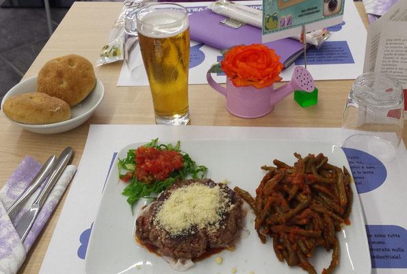hamburger nel piatto
