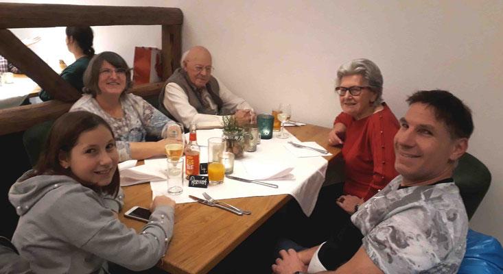Marlene, Hans, Karin, Martin und Melanie