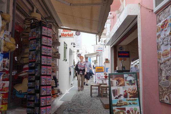 Gerda & Ubbo beim Shoppen