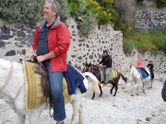 Eselsritt auf Santorin