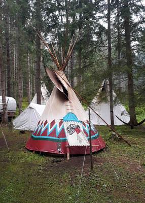 Besuch bei den Indianern