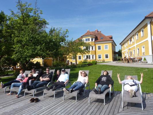 Relaxen am Badeteich