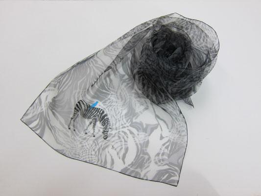 天女の羽衣 加賀友禅ショール 「シマウマ」