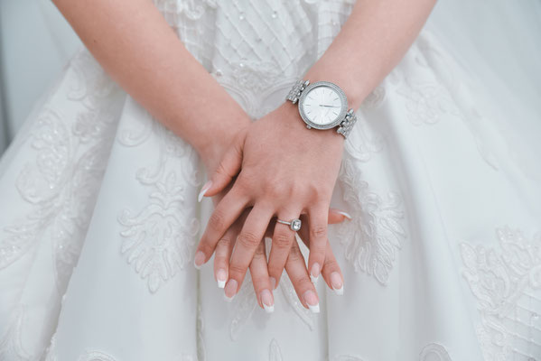 Detailaufnahme Ringe Brautshooting