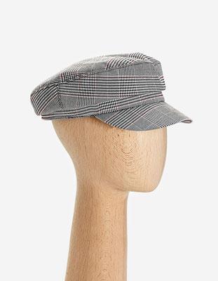casquette de marin à carreaux