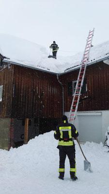 Feuerwehr Ermengerst - Dachabschaufeln Ermengerst