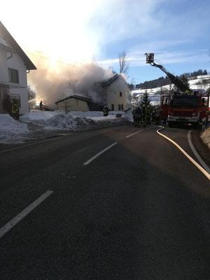 Feuerwehr Ermengerst - Wohnhausbrand in Ahegg