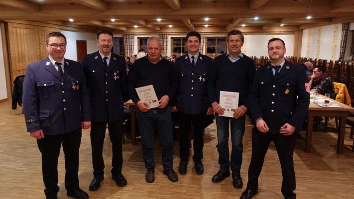 Hauptversammlung Feuerwehr Ermengerst 2019 - Ehrungen
